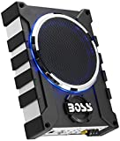 BOSS Audio Systems BASS1000 1000 Watt Low Profile Amplified 8 Inch Subwoofer with Remote Subwoofer Control