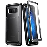 i-Blason Case for Galaxy Note 8, Magma Series Built-in Screen Protective Clear Back Cover with Holster Heavy Duty Belt Clip Shell (Black)