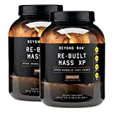 Beyond Raw Re-Built Mass XP Protein Powder - Chocolate, Twin Pack, 6lbs per Bottle, Mass Gainer