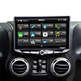 STINGER-STH10JK Stereo Replacement 10-Inch Touchscreen Radio with Android Auto, Apple CarPlay, Bluetooth, GPS, Dual USB Includes Dash Kit & Interface for Jeep Wrangler JK (2011-2018)