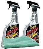 Meguiar's Hot Shine High Gloss Tire Spray (24 oz.) Bundle with Microfiber Cloth (3 Items)