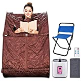Aceshin Portable Steam Sauna Home Spa, 2L Personal Therapeutic Sauna Weight Loss Slimming Detox with Foldable Chair, Remote Control, Timer