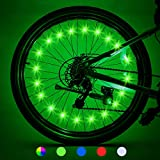 LET'S GO! Bike Lights Front and Back Gifts for Men Teens Boys Bike Lights Waterproof Bright Bicycle Light Cycling Bicycle Decoration for Boys, Stocking Stuffers for Kids, 2 Tires Green