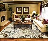 Large Area Rugs 8x11 Dining Room Rugs for Hardwood Floors Cream Black Rug 8x10 Area Rugs Clearance Rugs