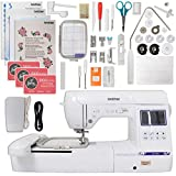 """Brother SE1900 Combination Sewing and Embroidery Machine Bundle with 5""""x7"""" Embroidery Field and Large Color Touch LCD screen"""