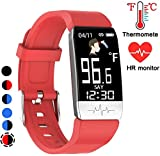 Mgaolo Fitness Tracker HR,Activity Tracker IP68 Waterproof Smart Watch Fit Wristband with Heart Rate Blood Pressure Sleep Monitor Pedometer Calorie Step Counter for Android Fitbit and iPhone (Red)
