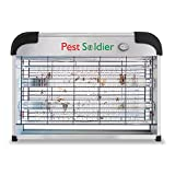 Pest Soldier Electronic Bug Zapper Insect Killer - Mosquito, Fly, Moth, Wasp, Beetle and Other pests Killer for Indoor Residential and Commercial