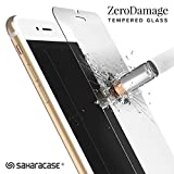 iPhone 8 and iPhone 7 ZeroDamage Tempered Glass Screen Protector .33m [Smooth Edge] Fits Apple iPhone 8, 7, 6S, 6 - SaharaCase