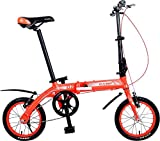 K7S Camp 14' Folding Bike Alloy Single Speed Q2 (Red)