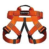 Fusion Climb Centaur Half Body Harness Orange M-XL for Climbing Gym & Rope Course,Orange, Black, Gold,Medium/Large