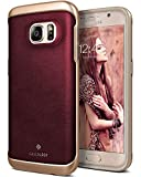Caseology Envoy for Samsung Galaxy S7 Case (2016) - Premium Leather - Leather Cherry Oak
