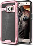 E LV Case for Galaxy S7 Case Hybrid [Scratch/Dust Proof] Armor Defender Slim Shock-Absorption Bumper Case for Samsung Galaxy S7 - [Black/Rose Gold]