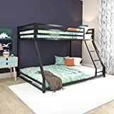 DHP Miles Metal Bunk Bed, Black, Twin over Full