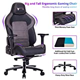 Big and Tall 440lb Gaming Chair Racing Office Chair - Gel Cold Cure Foam Lumbar/Seat Cushion & 4D Adjustable Arms, Heavy Duty Metal Base, Swivels & Reclines Ideal for Gamers & Office Workers