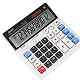 Calculator, ONXE Standard Function Electronics Desktop Calculators, Solar Dual Power, Big Button and 12 Digit Bold Font Large LCD Display, Handheld for Daily and Basic Office (DC2133)