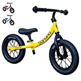 Banana GT Balance Bike - 12' Alloy Wheels Air Tires for Girls and Boys 2, 3, 4, 5 Year Olds