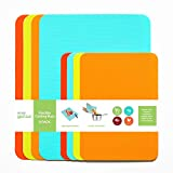 Simply Genius (8 Piece) Extra Thick Cutting Boards for Kitchen Prep, Non Slip Flexible Cutting Mat Set, Dishwasher Safe, BPA Free Plastic Colorful Chopping Mats for Meats and Vegetables