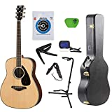 Yamaha FG800 Acoustic Guitar Solid Top with Knox Hard Shell Guitar Case ,Tuner,Stand,strings,Stap,Capo and Picks