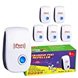 Ultrasonic Mole Repellent, 6 Packs Pest Repellent, Upgraded Eco-Friendly Ultrasonic Mole Repellent, Indoor for Anti Mice, Mosquitos, Insects, Bugs, Ants, Spiders, Roaches, Rodents, Rats
