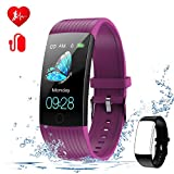 WELTEAYO Fitness Tracker with Heart Rate Monitor Fitness Watch Activity Tracker 1.14 Inch Color Screen Pedometer Blood Pressure Monitor Sleep Monitor IP67Waterproof for Android and iPhone (BLACK1)