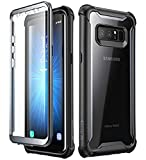 i-Blason Case for Galaxy Note 8 2017 Release,  Ares Series  Full-body Rugged Clear Bumper Case with Built-in Screen Protector (Black)