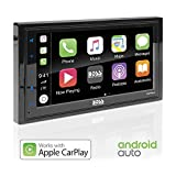BOSS Audio BVCP9685A Apple Carplay Android Auto Car Multimedia Player - Double Din Car Stereo, 6.75 Inch LCD Touchscreen Monitor, Bluetooth, MP3 Player, USB Port, A/V Input, Am/FM Car Radio