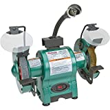Grizzly Industrial T24463 - 6' Bench Grinder with Work Light