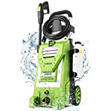 mrliance 3800PSI Pressure Washer 2000W 3.0GPM Electric Power Washer with 5 Nozzles, Detergent Tank, 35ft Power Cord, Metal Connector, for Cars Fence Patio Deck Cleaning (Green)