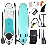 DAMA isup Inflatable Stand up Paddle Boards (10'), sup Paddle Board,Kids Board, sup Paddle Board, Drop Stitch and PVC, fin,Carry Bag,Paddle,Hand Pump,Leash,All Round Board,Mint Green