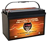 VMAX MR137-120 12V 120Ah AGM Deep Cycle Marine Battery Compatible with Minn Kota Terrova 55 12v 55lb Trolling Motor