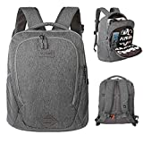 Laptop Backpack Jelly Comb Laptop Accessories Organizer Electronic Travel Laptop Bag 15.6'' Lightweight Computer Bag for MacBook, Laptop Charger, Cables, Power Bank and More-Gray