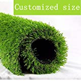 """ALTRUISTIC Artificial Grass 6ft x 8ft (48 Square Feet) Realistic Fake Grass Deluxe Turf Synthetic Thick Lawn Pet Turf, 1 3/8"""" Height, Outdoor Décor, 10 Years Warranty, Customized"""