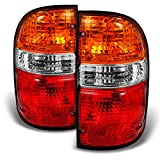For Toyota Tacoma Truck Red Amber Tail Lights Brake Lamps Driver Left + Passenger Right Replacement Pair