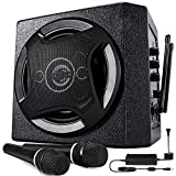 TONOR PA System Karaoke Machine Bluetooth Powered Speaker Wireless Microphones Handheld for Family Party, Indoor Meeting, Classroom Use, Public Speaking and Small Stage Performance