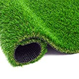 ZGR Artificial Garden Grass 6 ft x 10 ft Premium Lawn Turf, Realistic Fake Grass, Synthetic Turf, Thick Pet Turf, Fake Faux Grass Rug with Drainage Holes Indoor/Outdoor Landscape Customized Available
