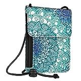 Fintie Passport Holder Neck Pouch [RFID Blocking] Premium PU Leather Travel Wallet, Emerald Illusions