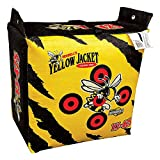 Morrell Yellow Jacket YJ-425 Outdoor Portable Adult Field Point Archery Bag Target with 2 Shooting Sides, 10 Bullseyes, and Carry Handle, Yellow