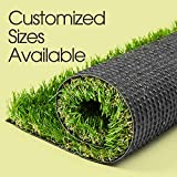 AYOHA 7' x 13' (91 Square ft) Artificial Grass, Realistic Fake Grass Deluxe Synthetic Turf Thick Lawn Pet Turf, Indoor/Outdoor Landscape,Easy to Clean with Drain Holes, Non Toxic, High Density, 35mm