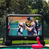 VIVOHOME 14ft Indoor and Outdoor Inflatable Blow up Mega Movie Projector Screen with Carry Bag for Front Projection