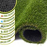 ZGR Artificial Garden Grass, 6' x 10' (60 Square ft) Premium Lawn Turf, Realistic Fake Grass, Deluxe Synthetic Turf, Thick Pet Turf, Perfect for Carpet Doormat Indoor/Outdoor Landscape, Non Toxic