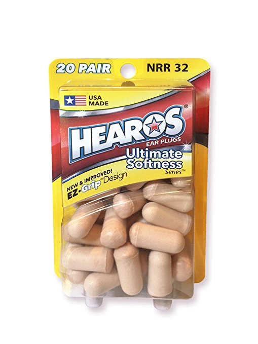 Best Earplugs for sleeping: 9. Hearos Ultimate Softness Foam Earplugs