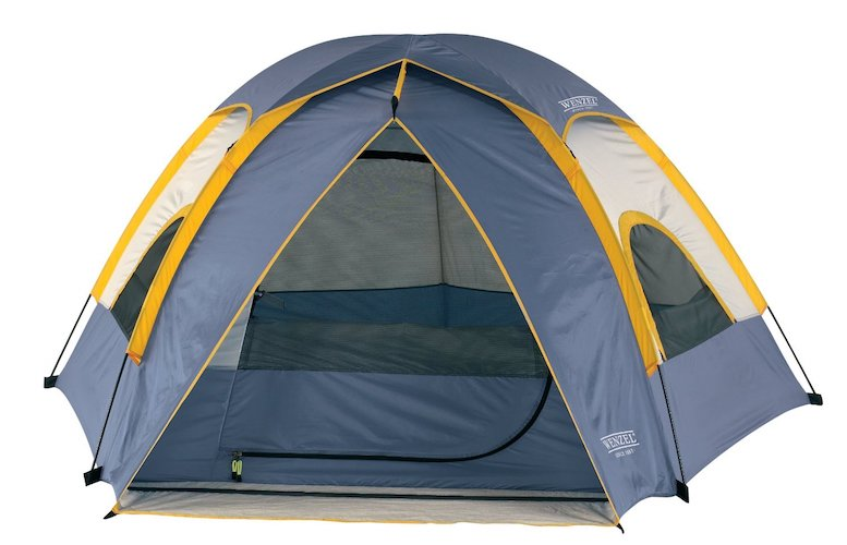 6. AUGYMER Waterproof 3 Person Camping Tents