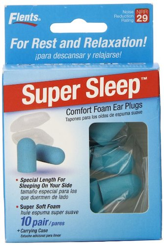 Best Earplugs for sleeping: 3. Flents Super Sleep Comfort Foam Earplugs
