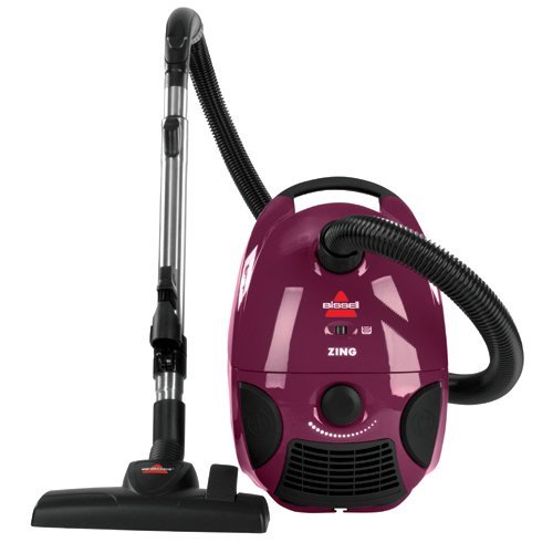 Best Vacuums for Hard Floors: 3. Bissell Zing Bagged Canister Vacuum, Purple, 4122