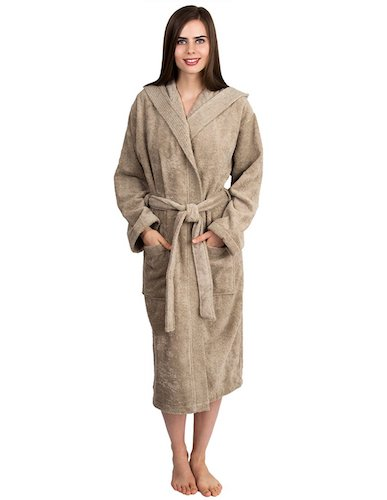 7. TowelSelections Women's Robe Turkish Cotton Hooded Terry Bathrobe