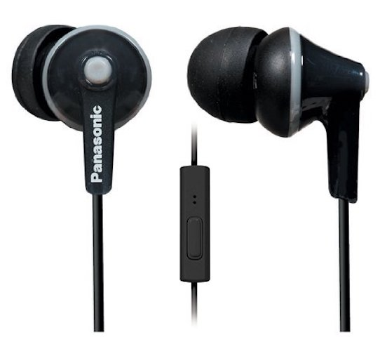 Best Earbuds under 50: 7. Panasonic ErgoFit In-Ear Earbuds Headphones with Mic/Controller RP-TCM125-K