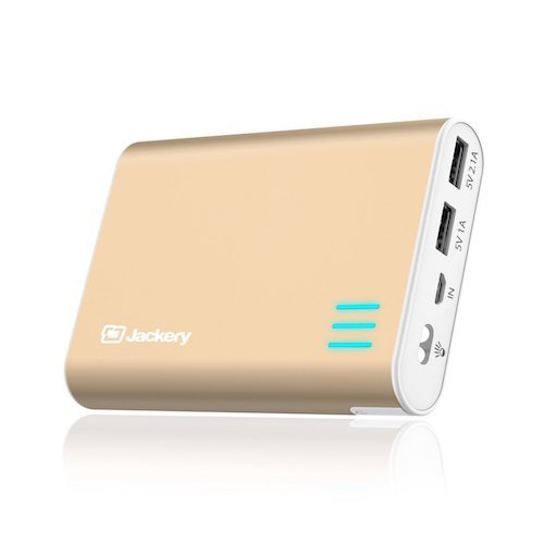 Top 10 Best Portable Charger External Battery PowerBank: 8. Jackery Giant+ Premium 12,000 mAh Dual USB Portable Battery Charger