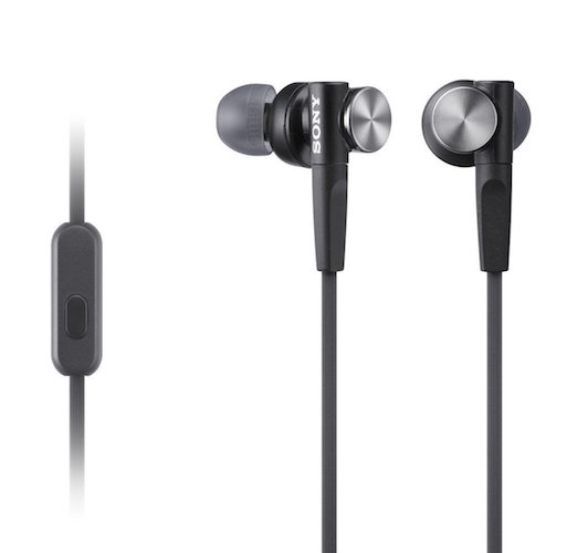 Best Headphones for Bass: 4. Sony MDRXB50AP Extra Bass Earbud Headset (Black)