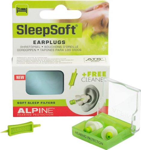 Best Earplugs for sleeping: 1. Alpine Sleep Soft Earplugs
