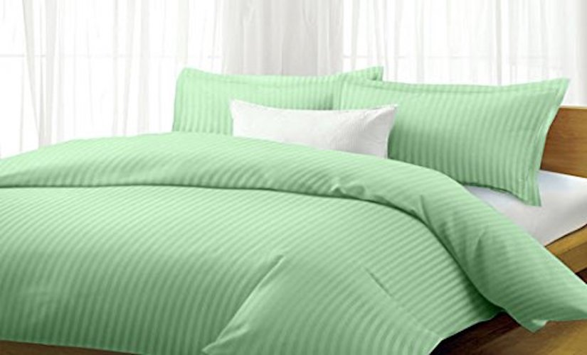 5. Millenium 1600 Series 4 Piece Dobby Stripe Sheet Set